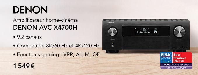 Denon AVR-4700H : L'ultime ampli home-cinéma UHD 8K