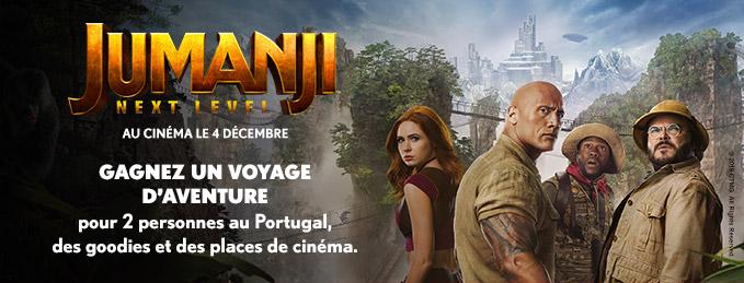Concours Jumanji : Next Level : Gagnez un voyage d'aventure au Portugal