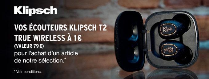 Klipsch T5 True Wireless : Vos écouteurs zéro fil à 1 €