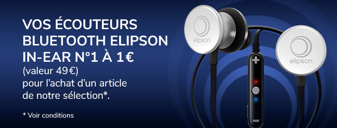 Elipson In-Ear n°1 : Vos écouteurs Bluetooth à 1 €