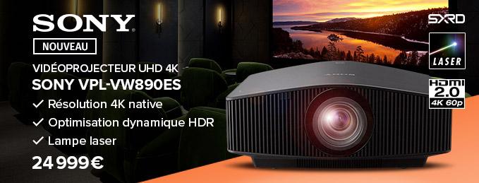 Sony VPL-VW890ES : Le meilleur vidéoprojecteur laser 4K HDR