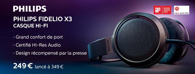 Philips Fidelio X3 : Casque hi-fi ouvert