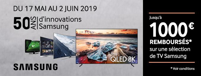 TV Samsung 4K/8K et QLED : Jusqu'à 1000 € remboursés