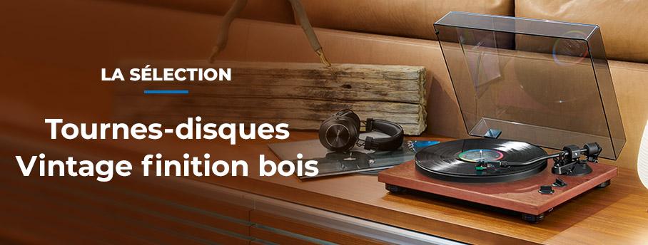 Tourne-disques vintage finition bois : La sélection vinyle vintage