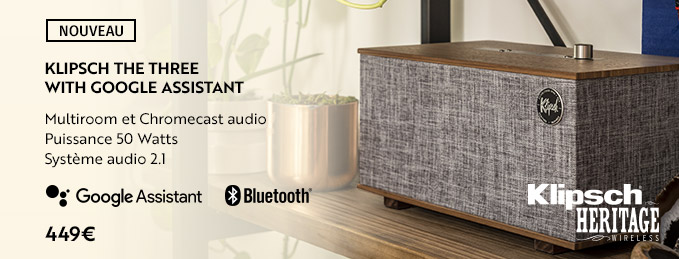 Klipsch The Three with Google Assistant : L'enceinte intelligente par Klipsch