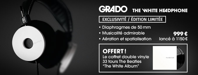 Grado The White Headphone : The Beatles The White Album offert !