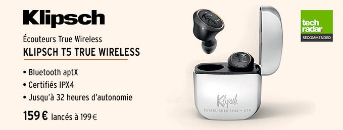 Klipsch T5 True Wireless : Le son Klipsch sans aucun fil