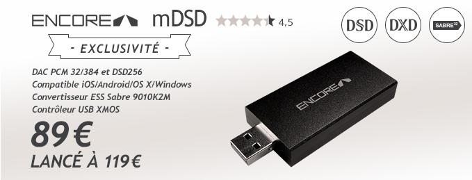 Encore mDSD : DAC Audio portable 32/384