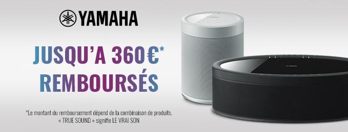 Yamaha MusicCast : Jusqu'à 360 € remboursés