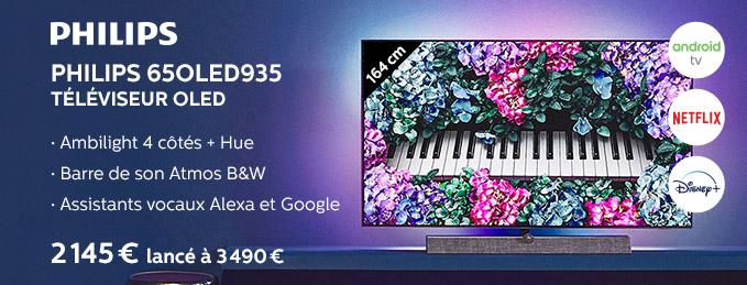Philips 65OLED935 : TV OLED UHD-4K de 164 cm