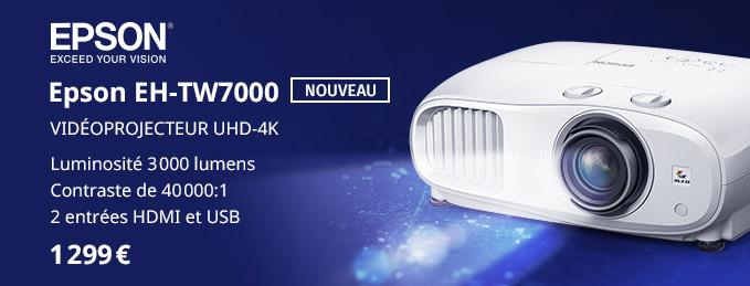 Epson EH-TW7000 : La vidéoprojection UHD 4K par Epson