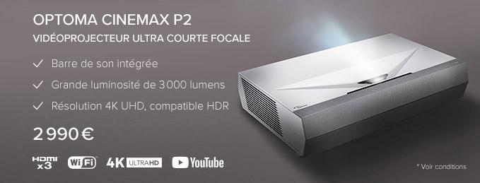 Optoma CinemaX P2 : L'une des meilleures Laser TV 4K HDR