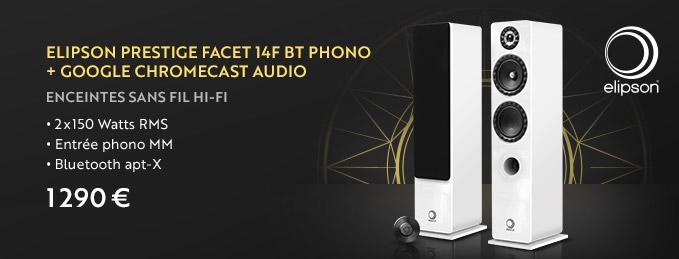 Elipson 14F BT + Google ChromeCast Audio : L'enceinte connectée par Elipson