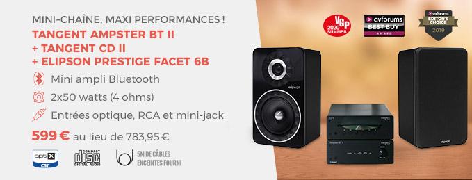 Tangent Ampster + Elipson Prestige Facet : Mini-chaîne, maxi performances