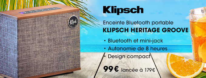 Klipsch Heritage Groove : Enceinte Bluetooth portable