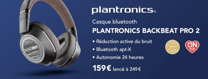 Plantronics Backbeat Pro 2 : Casque Bluetooth à réduction de bruit : -35%
