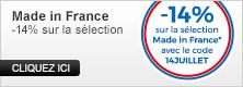 14% de remise sur la sélection Made in France !