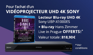 Offre Sony Vidéoprojecteur UHD-4K avec lecteur Blu-ray UHD-4K offert