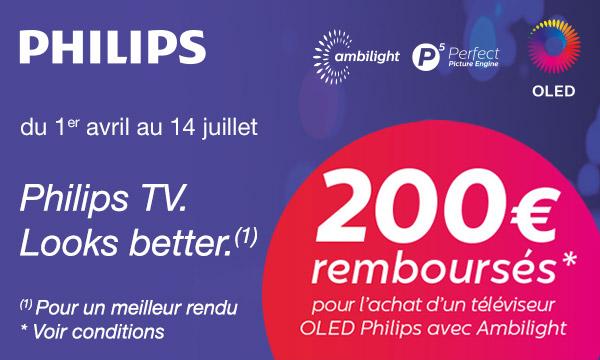 Philips vous rembourse 200 €