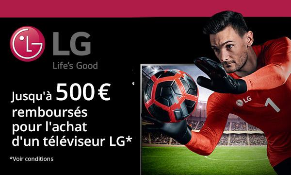 LG vous rembourse jusqu'à 500 €