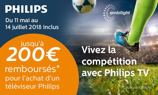 Philips vous rembourse jusqu'à 200 €