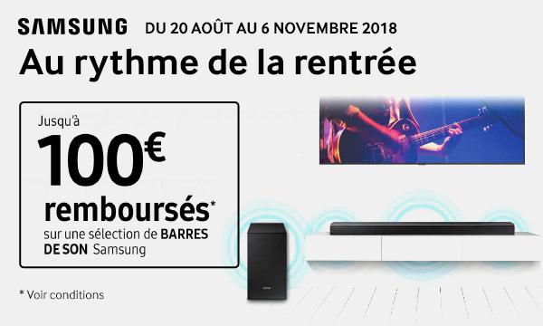 Samsung vous rembourse jusqu'à 100 €