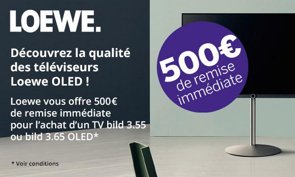 Loewe vous offre 500 € de remise immédiate