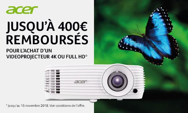 Acer vous rembourse jusqu'à 400€