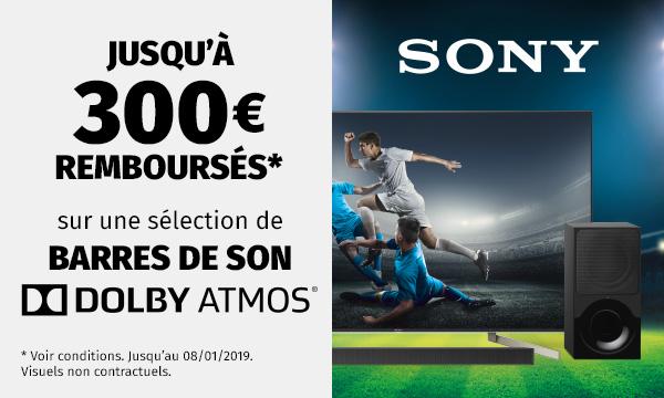 Sony vous rembourse jusqu'à 300€