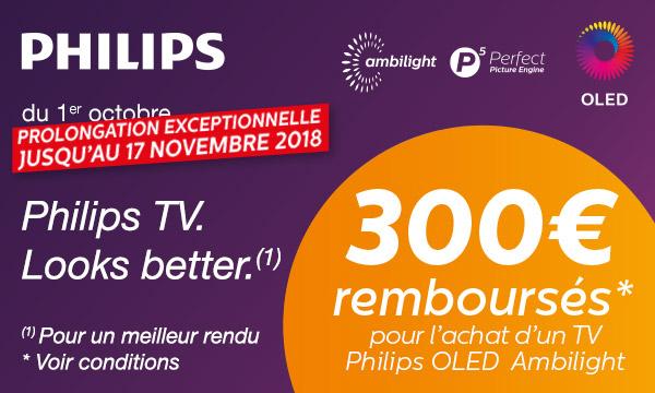 Philips vous rembourse 300 €