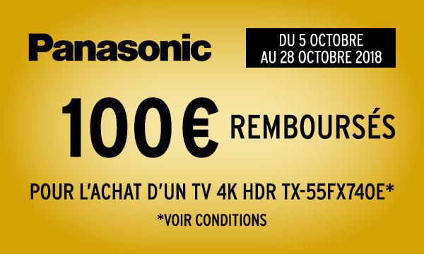 Panasonic vous rembourse 100 €