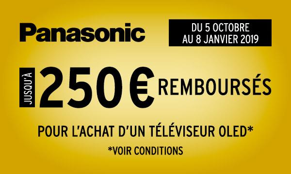 Panasonic vous rembourse jusqu'à 250 €