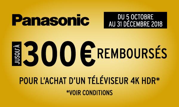 Panasonic vous rembourse jusqu'à 300€
