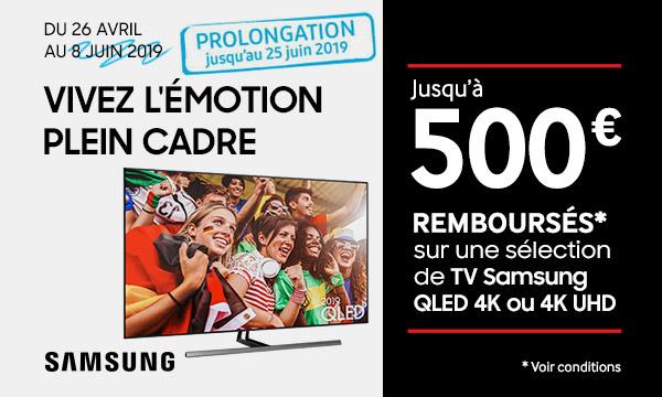 Samsung QLED et UHD 4K jusqu'à 500 € remboursés