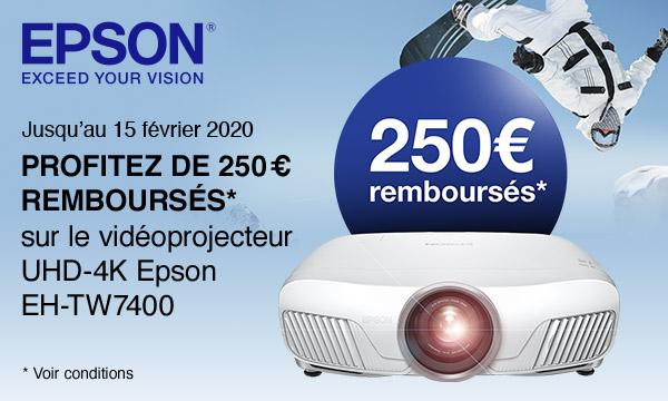 Offre de remboursement Epson EH-TW7400