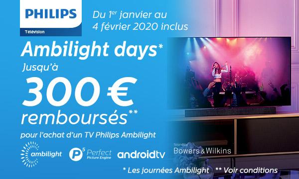 Offre de remboursement Philips Ambilight Days 2020