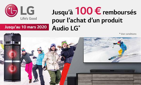 Offre de remboursement LG audio Winter 2019-2020