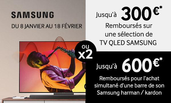 Offre de remboursement Samsung Le meilleur de l'image et du son