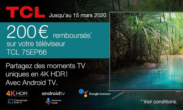 Offre de remboursement TV TCL 75EP66
