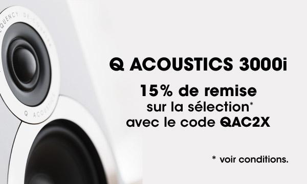 Enceintes Q Acoustics 3000i en promotion