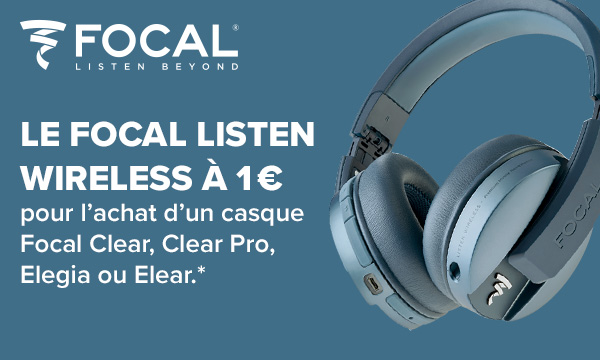Votre casque Focal Listen Wireless pour 1 € de plus