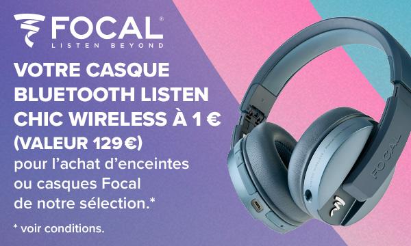 Vos écouteurs intras Focal pour 1 € de plus