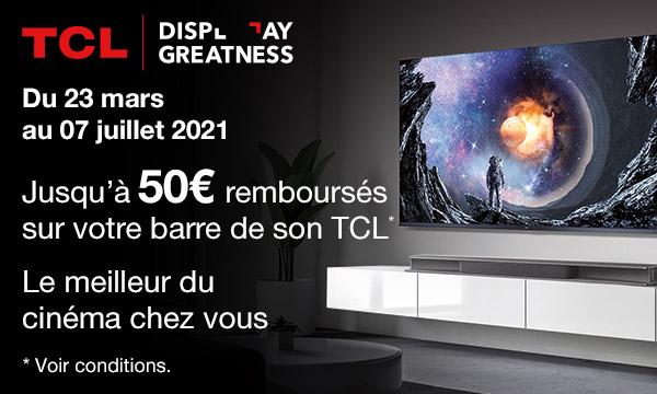 TCL Ray Danz : 50 € remboursés