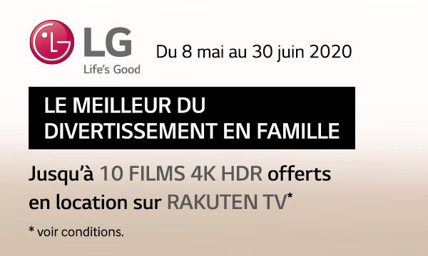 Offre de remboursement LG : le meilleur du divertissement en famille
