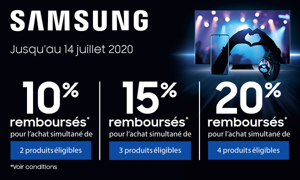 Offre Samsung anniversaire