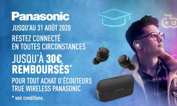 Écouteurs True Wireless Panasonic : jusqu'à 30€ remboursés