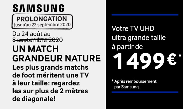 Samsung : Un match grandeur nature