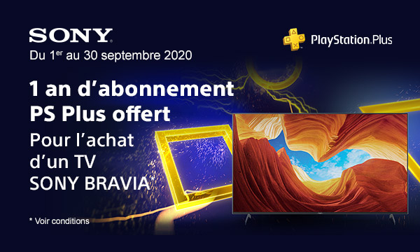 Sony : un an d'abonnement Playstation Plus offert