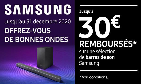 Sélection barres de son Samsung