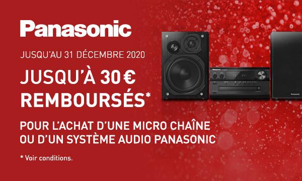 Panasonic audio : jusqu'à 30 € remboursés
